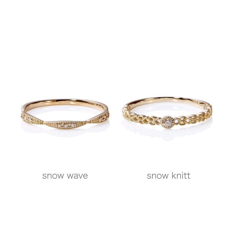 SWEET 'SNOW' 4 RINGS